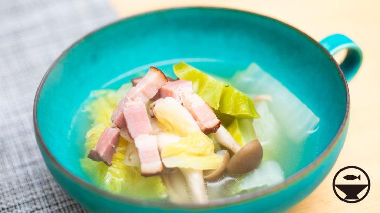 ベーコンと白菜のスープ
