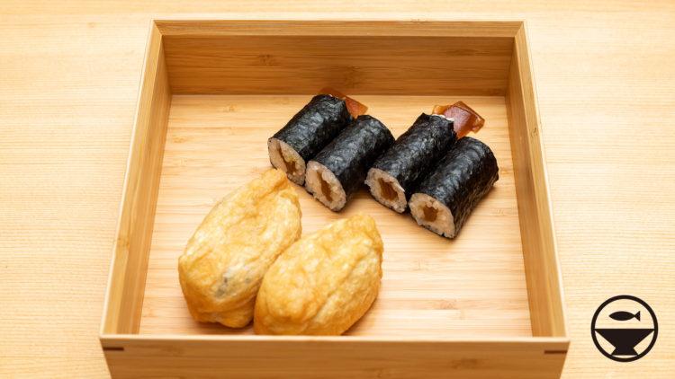 助六寿司を公長齋小菅のお重箱に盛って