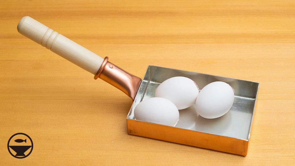 銅鍋の卵焼き器