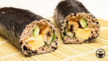 蕎麦寿司で恵方巻